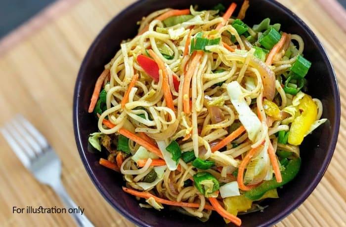 Rice & Noodle Dishes  - Vegetarian Hakka Noodles