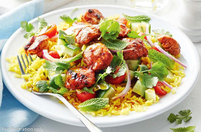 Tandoor cooked meals - Tandoori Chicken With Salads