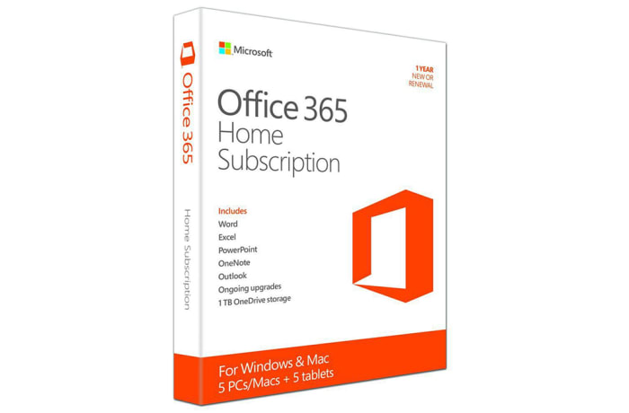 Microsoft Office 365 Home 1 Year Subscription