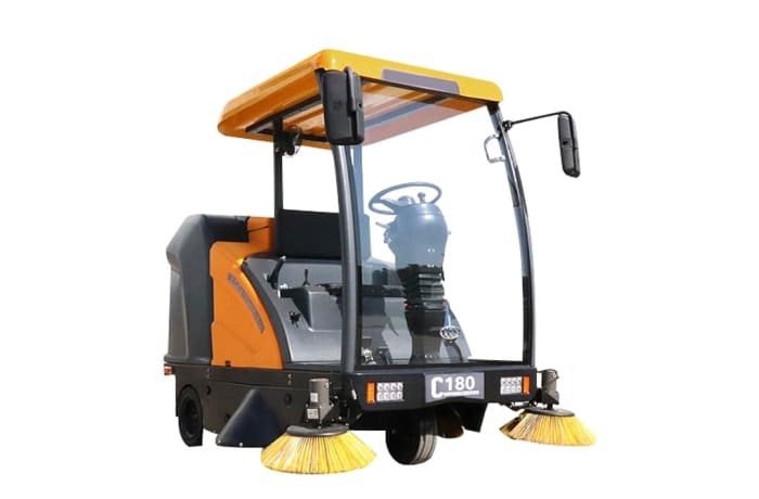 C180 Ride on Road Sweeper