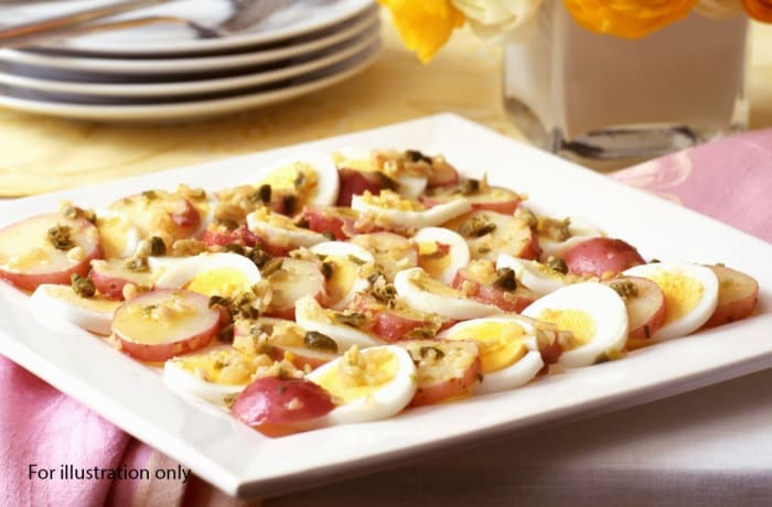 Prestigious Wedding Package - Starters - Potato Egg Salad with Capers
