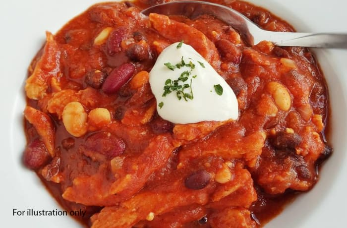 Wedding Menu Option 4 - Starters - A combination of three different Beans in Tomato Sauce