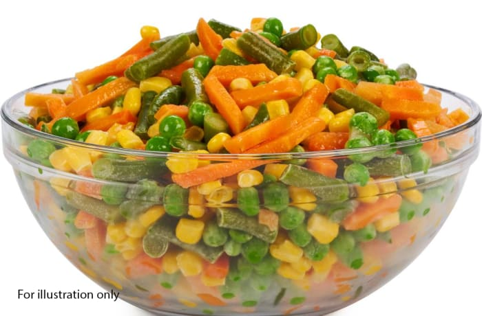 Milile Wedding Option 3 - Accompaniments - Mixed Veggies