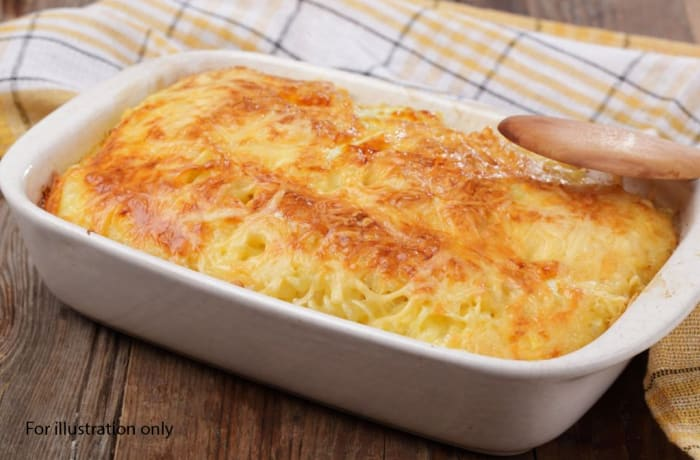 Wedding Menu Option 3 - Main Course - Spaghetti Au Gratin