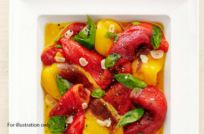Wedding Menu Option 4 - Starters - Seasonal Bell Pepper Salad marinated in Orange Vinaigrette