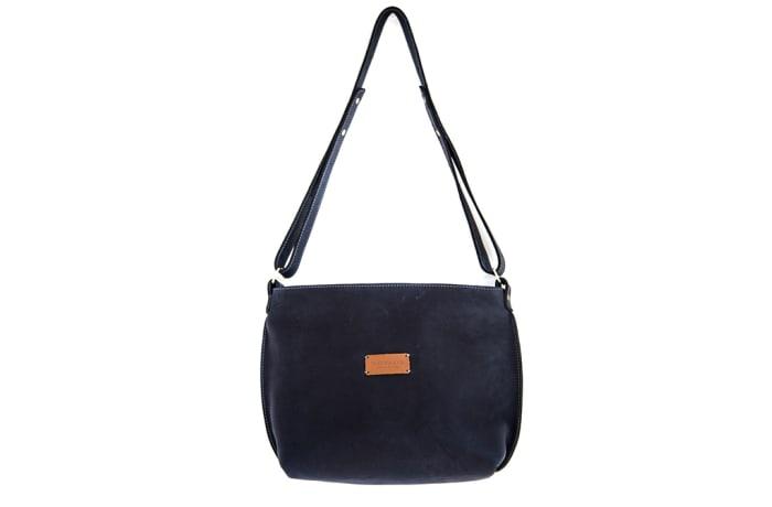 Mini day bag in leather