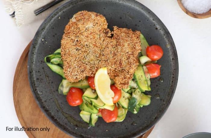 Main Gains - Herbed Quinoa Schnitzel