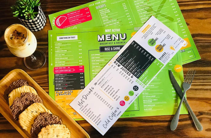 New menu is ready and out !!! image