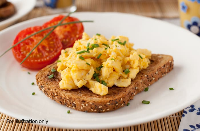 Breakfast - Scrambled Eggs on Toast