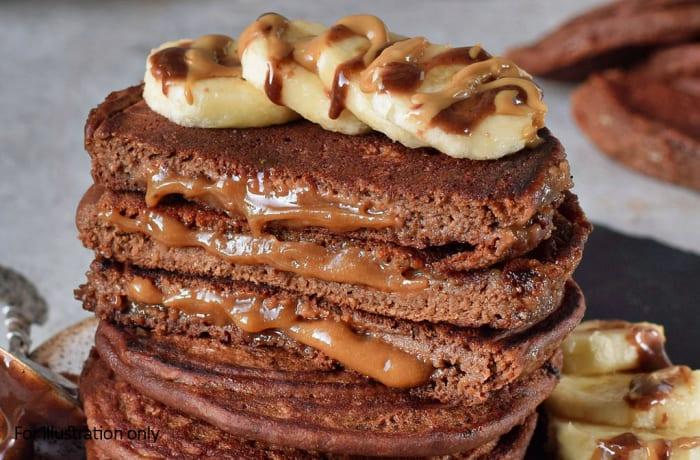 Dessert - Pancakes - Plain Banana with a Caramel Sauce