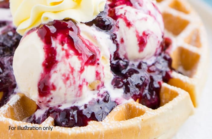 Dessert - Waffles - extra Ice cream or cream