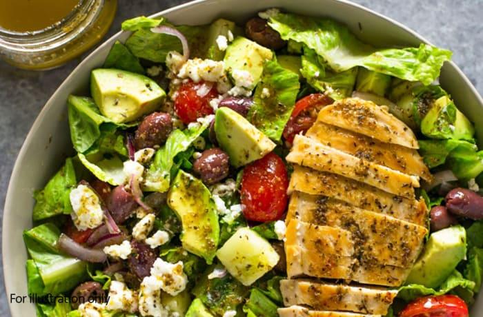 Salads - Chicken, Feta, Apple and Avocado Salad