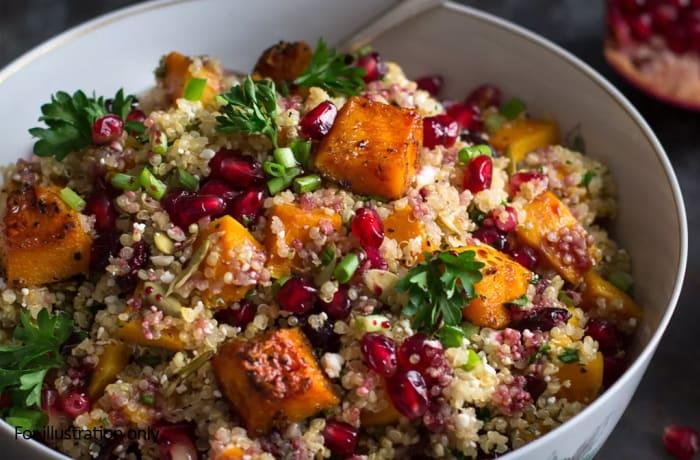 Salads - Quinoa and Roast Butternut Salad - Vegetarian
