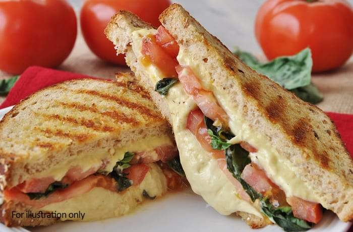 Toasted Sandwiches - Cheddar Cheese and Tomato