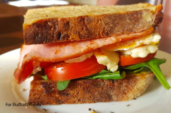 Toasted Sandwiches - Halloumi with Bacon and Tomato