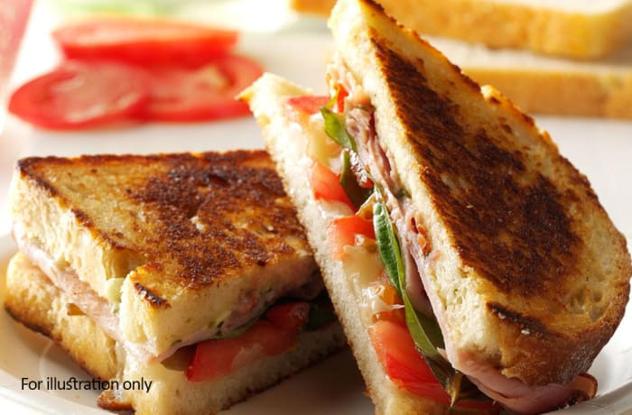 Toasted Sandwiches - Ham, Cheese and Tomato