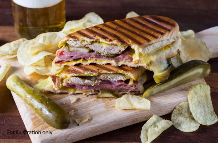 Toasted Sandwiches - Pastrami with Gherkins and Cheddar