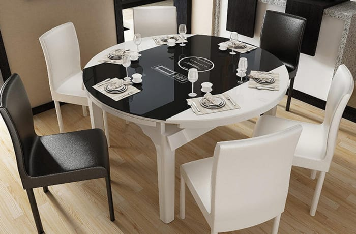 Modern Minimalist Dining Table And Chair Combination Ola