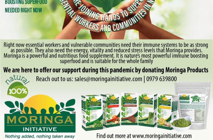 Moringa offers support during this pandemic by donating Moringa products image