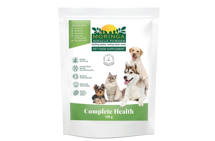Moringa Pet Food Supplement - 100g packaging or Case