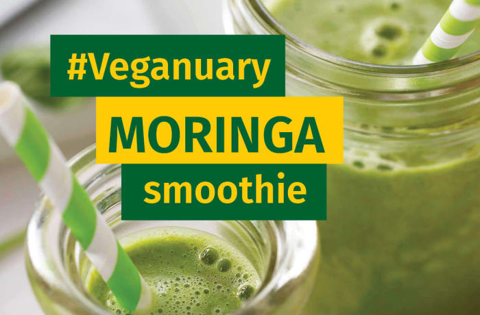 Taking part in Veganuary? try this moringa smoothie recipe image