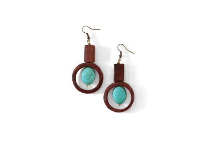 Mukwa circle earrings in turquoise