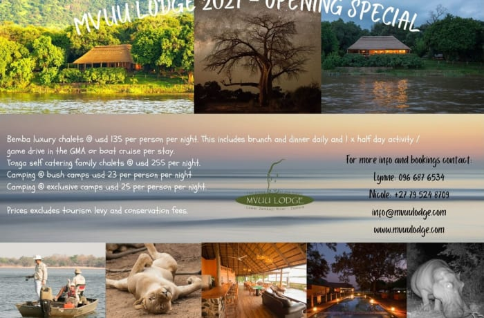 Mvuu Lodge re-opening March 1st 2021 image