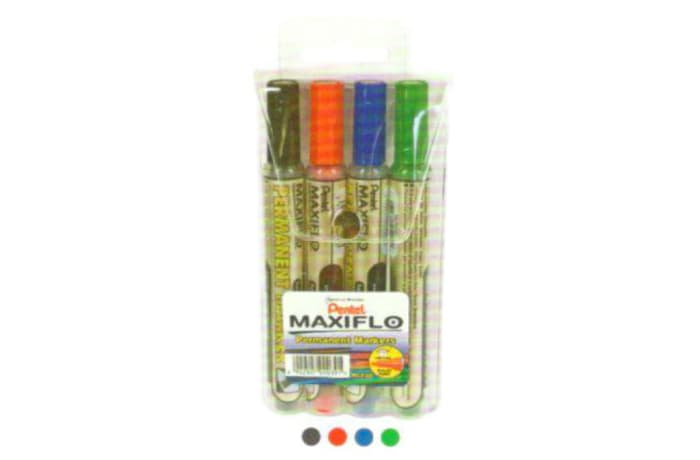 Permanent Markers - NLF50-4 Maxiflo Pump-it Bullet Point - Wallet of 4