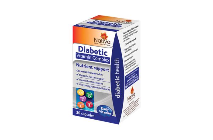 Diabetic Vitamin Complex  Nutrient Support Supplement  30 Capsules