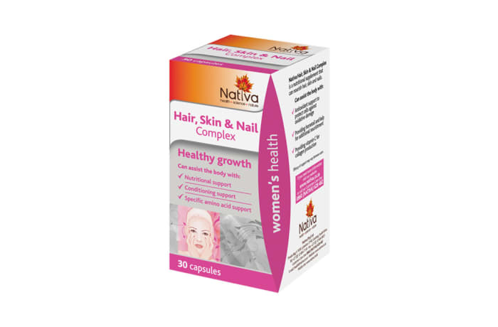 Hair Skin & Nail Complex  Healthy Growth Supplement  30 Capsules