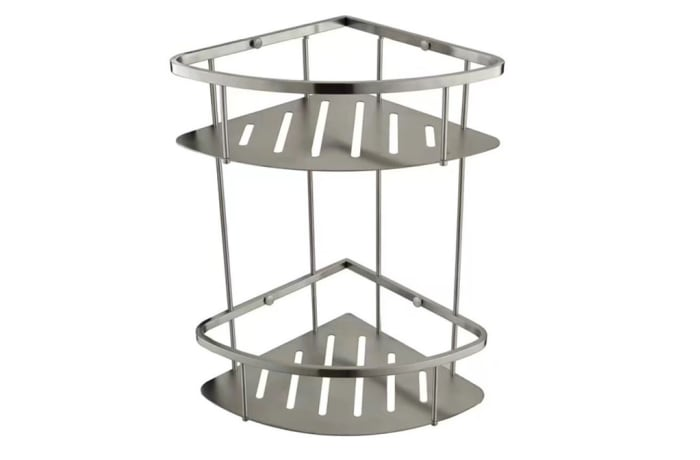 Bathroom shelf - Brushed matte steel shower caddy  N100 G