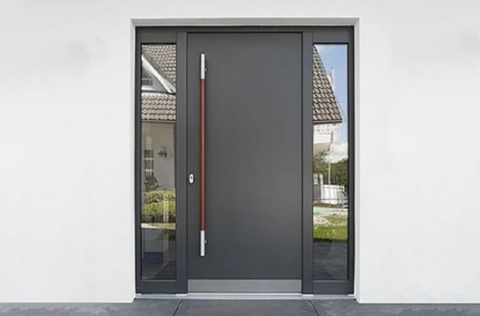 Modern plain 100% Solid Wood Door - 60428631962 E