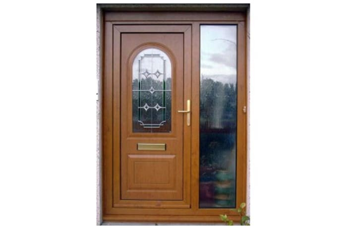Modern plain 100% Solid Wood Door - 60428631962 D