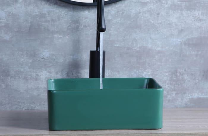 Bathroom sink - Nordic matte green above counter basin 5038A 3