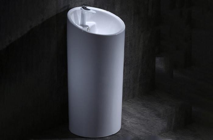 Bathroom sink - One-piece pedestal basin 100212345 B