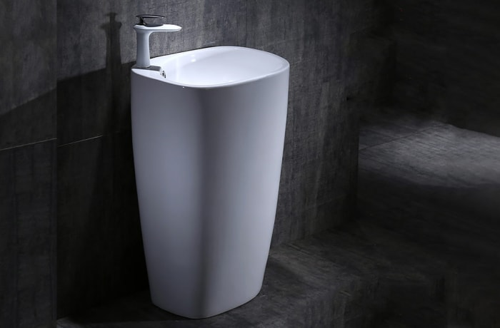 Bathroom sink - One-piece pedestal basin 100212325 D