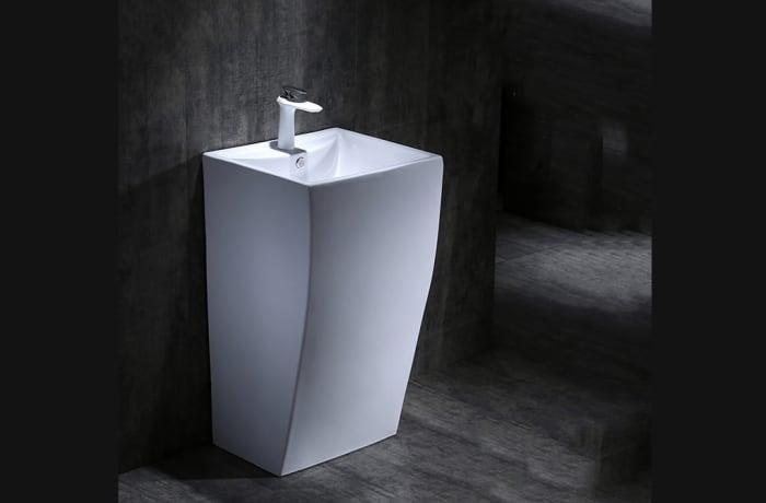 Bathroom sink - One-piece pedestal basin 100212325 E