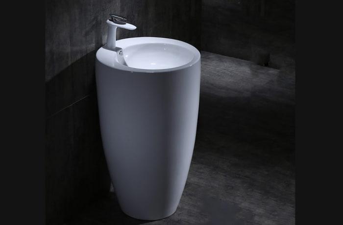 Bathroom sink - One-piece pedestal basin 100212325 F