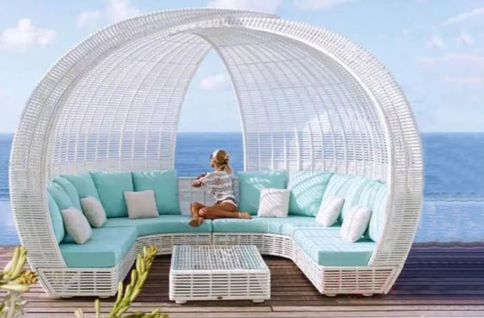 Outdoor Rattan Dome Sofa - Model HD-S205