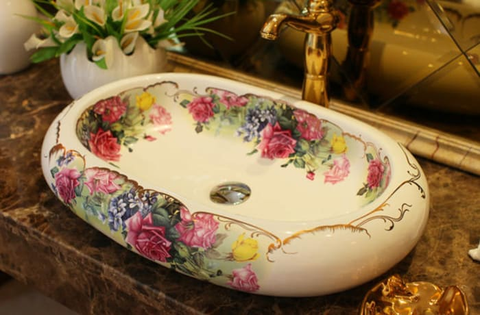 Bathroom sink - Oval wash basin ceramic wash basin 1552971123 A
