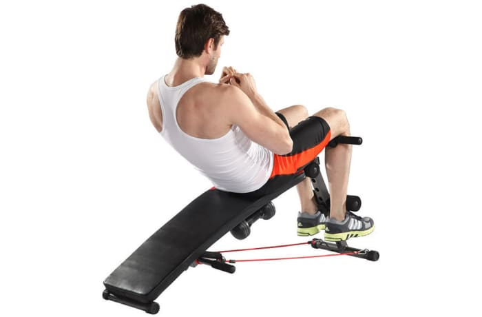 Sit-up Bench With Dumbbell 6455