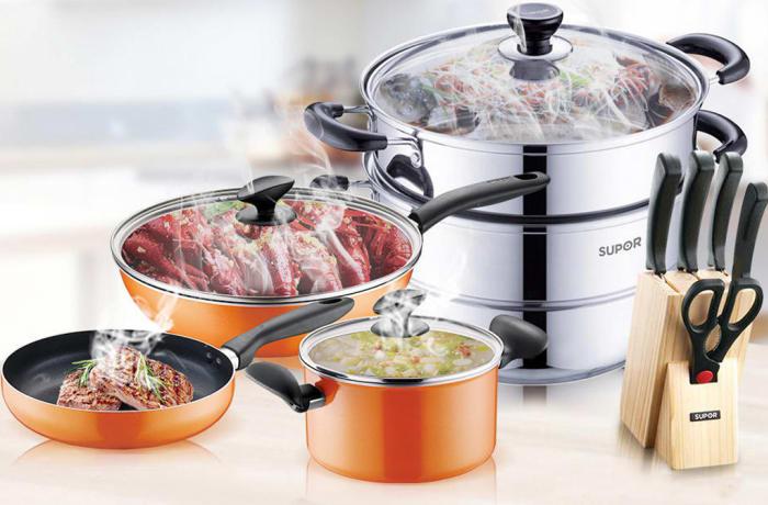 Supor Kitchenware Pan and Pot 10 Piece Set - 12206584428