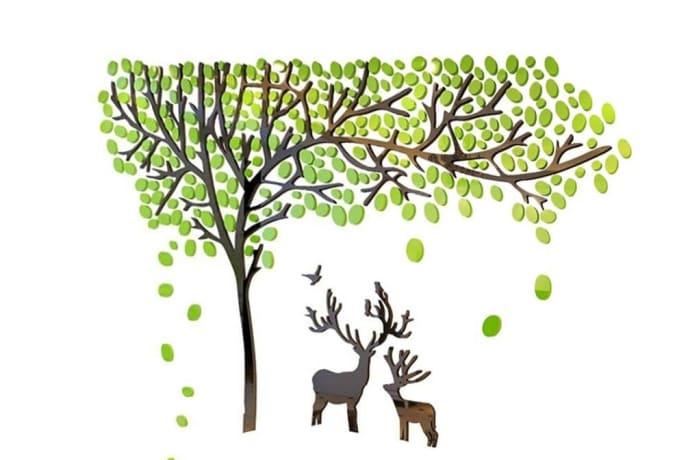 Tree Acrylic 3D Wall Sticker - 221
