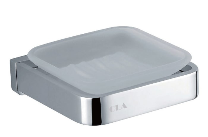 Bathroom soap holder - Polished chrome copper soap holder 28004#