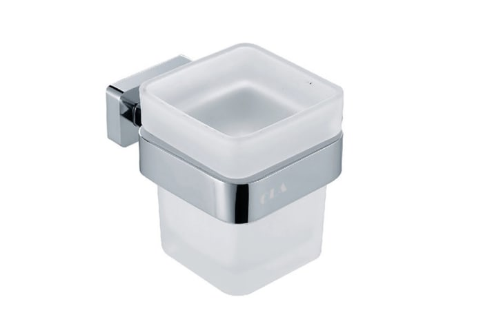 Bathroom cup holder - Polished chrome cup holder with tooth brush cup 73005#
