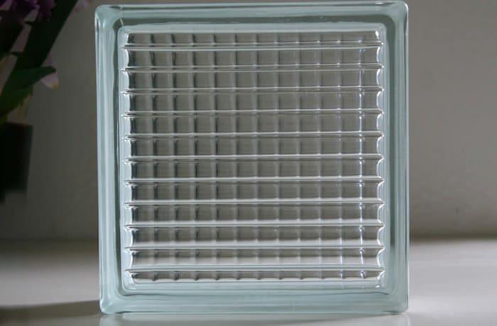 Glass Brick - 2.4 kg - 190x190x80 - 6 piece