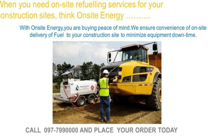 When you need on - site refuelling services for your construction sites, think Onsite Energy image