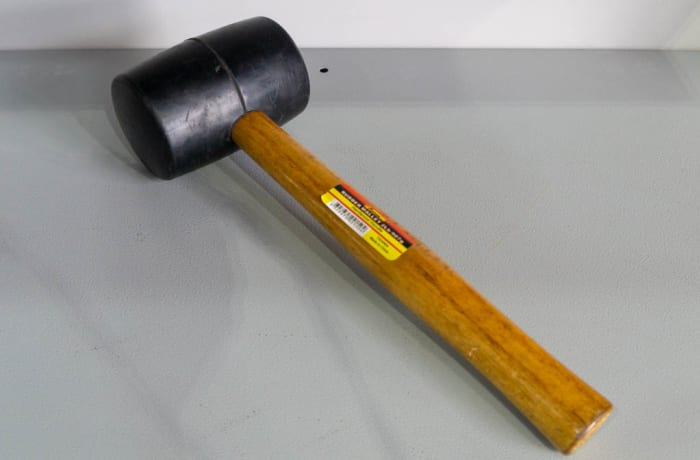 Rubber Hammer with Wooden Handle