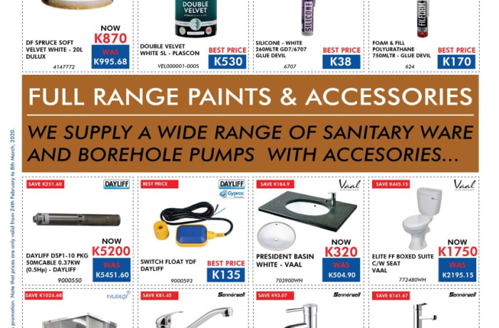 Special sale on paint and accessories  image