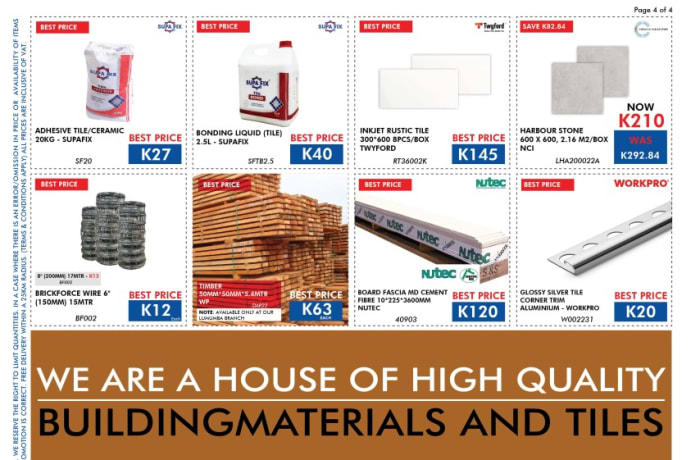 High quality building materials and tiles image